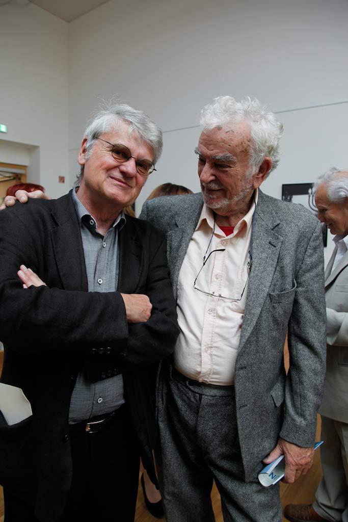Amos Yaskil und Bernd-Lutz Lange im Gespräch