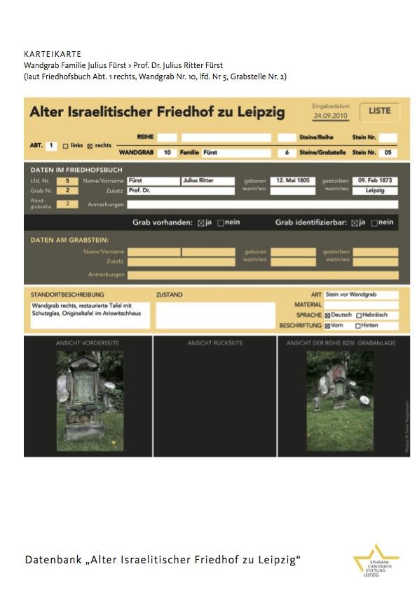 """Datenbank """"Alter Israelitischer Friedhof zu Leipzig"""