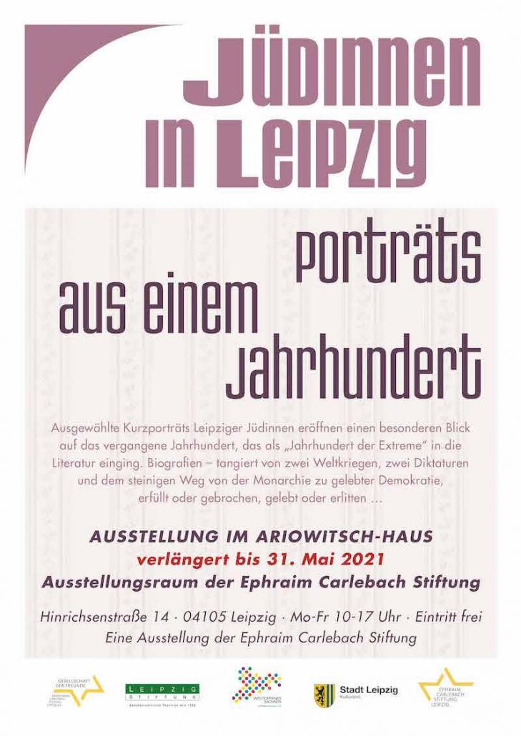 Einladung Ausstellung Juedinnen in Leipzig